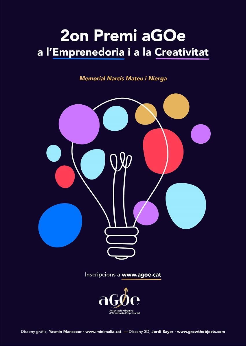 cartell Premi a l'Emprenedoria i a la Creativitat 2019 (aGOe)